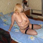 Russian girl naked on the bed, pic 24