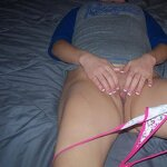 Sex with wife without taking off panties, pic 15
