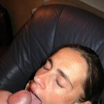 Scary cum eating chick from germany, pic 18
