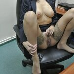 Striptease in the office, pic 5