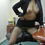Striptease in the office, pic 7