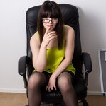 Striptease in an office chair, pic 6