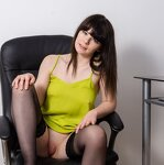 Striptease in an office chair, pic 16