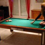 In stockings on billiards, pic 4