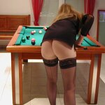 In stockings on billiards, pic 17