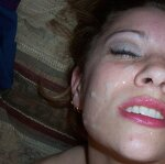 Vibrator in pussy - cum on face, pic 23