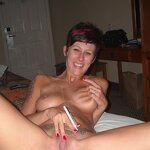Wife smokes and does blowjob, pic 22