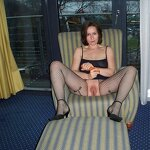 Wife loves to pose in stockings, pic 19