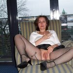 Wife loves to pose in stockings, pic 20