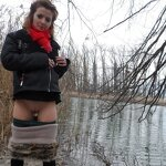 Wife naked in nature, pic 1