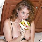 Wife with banana in pussy, pic 12