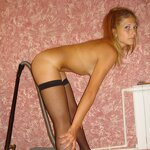 Wife in stockings on an armchair, pic 8