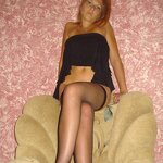 Wife in stockings on an armchair, pic 15