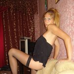 Wife in stockings on an armchair, pic 19