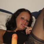 Wife playing with dildo, pic 18
