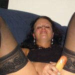 Wife playing with dildo, pic 30